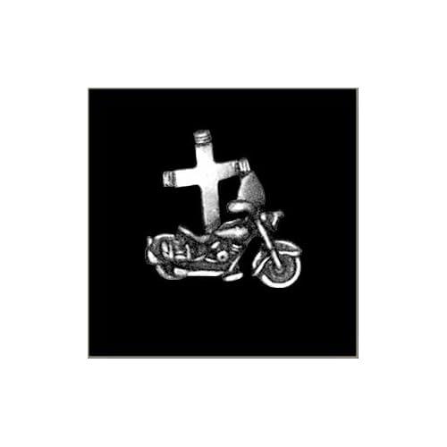 """""""Jesus Rides w/ Me"""" Biker Pin"""