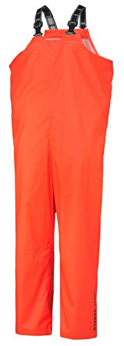 Flame Retardant Bib - Helly Hansen Work Overalls Mens Horten FR PVC L Orange 70530