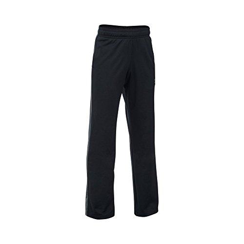 Under Armour Boys' Kickstart Warm-Up Pants, Black/Graphite, Youth Small