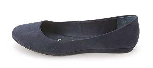 (American Rag Womens Ellie Fabric Closed Toe Slide Flats, Navy, Size)