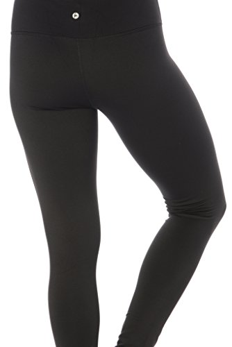 082391969fcba 90 Degree By Reflex Fleece Lined Leggings - Yoga Pants - Black Medium
