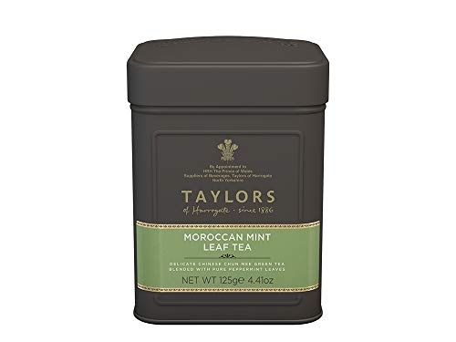 Taylors of Harrogate Moroccan Mint Green Tea Loose Leaf, 4.41 Ounce Tin
