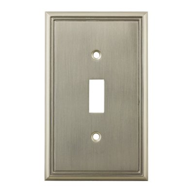 Cosmas 65003-SN Satin Nickel Single Toggle Switch Plate Switchplate Cover