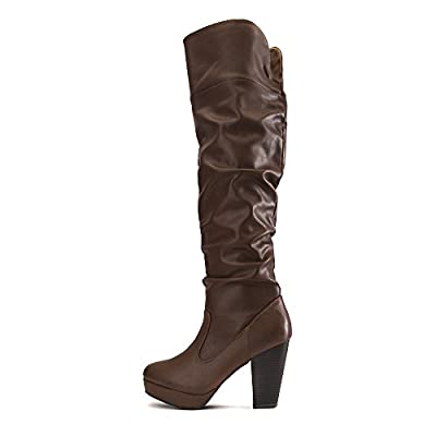 Bamboo Women's HUXLEY-13 thigh-high boot Boot