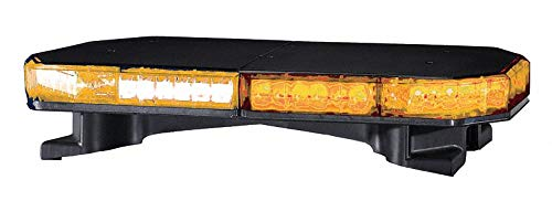 - Amber Low Profile Mini Light Bar, LED Lamp Type, Permanent Mounting, Number of Heads: 8