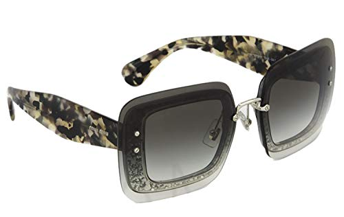 502a22b1af3e MIU MIU REVEAL Sunglasses MU01RS Grey Glitter Havana 01R