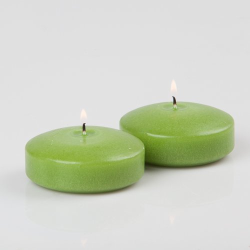 Set Floating Green Candles - 3