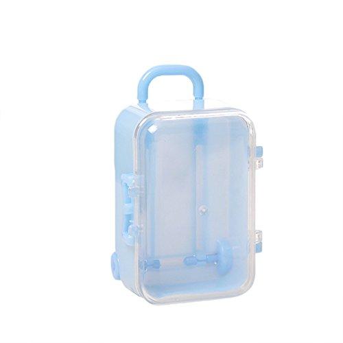 12PCS Toy Travel Suitcase Elegant Wedding Candy Box Birthday Halloween Christmas Festival Gift Storage Bag Decoration Mini Trolley Case