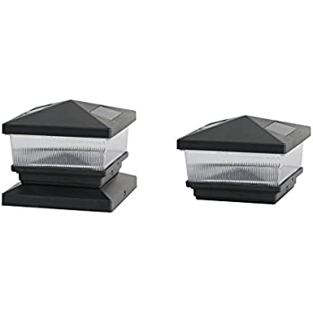 Solar Black Post Cap With 6x6 Post Adaptor Amazon Com