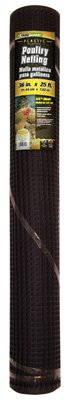 Midwest Air Tech 889230A 36'' x 15' ft 1/2'' Mesh Black PVC Hardware Cloth - Quantity 3