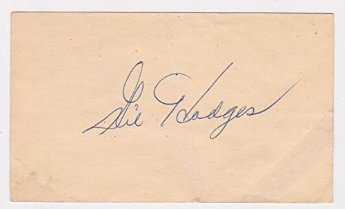 Gil Hodges Autographed Signed May 11, 1955 Gpc Government Postcard Auto Autograph JSA Letter