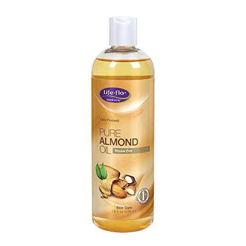Life-flo Pure Almond Oil | Natural Skin & Hair Moisturizer w/ Omega 3, 6, 9 | Lotion, Cream & Massage Oil Base | Cold Pressed & Hexane Free | 16oz