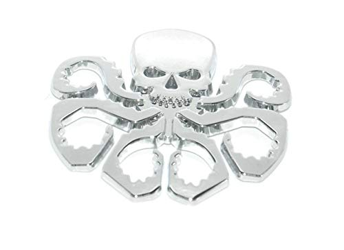 (Daphot-Store - 1PC 3D HYDRA Marvel Skeleton Skull Animal Hot Metal Stickers Car Styling Motorcycle Accessories Badge Label Emblem Car Stickers )