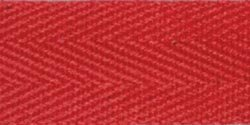 Products From Abroad 107-14-08 Cotton Twill Tape, 5/8-Yard x 55-Yard, Red (Red Twill Tape)
