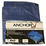 Anchor 11022 8X12'' Polyethylene Tarp Woven Lamin, Sold As 1 Each