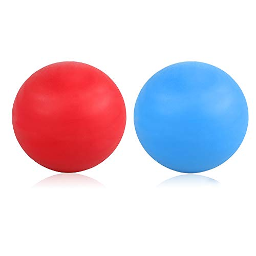 ProChosen 2 Pack Massage Lacrosse Balls for Sore Muscles, Shoulders, Neck, Back, Foot, Body, Deep Tissue, Myofascial Release, Trigger Point Therapy, Muscle Knots and Yoga Therapy (Blue Red)