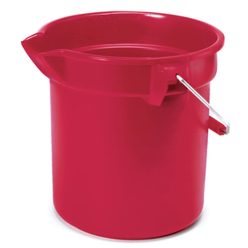 Levolor/Kirsch/Newell Rubbermaid 10-Quart Round Bucket, Red #2963 FG296300RED