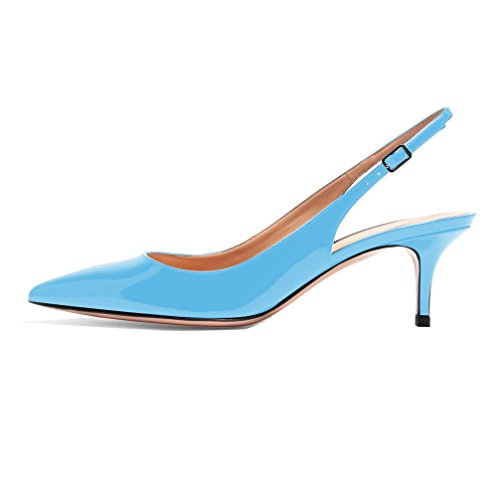 Talon Mariage Lightblue Moyen 6 5cm Femme Chaussures Sexy Verni Aiguille Escarpins Traivail Edefs 1ngzIq7