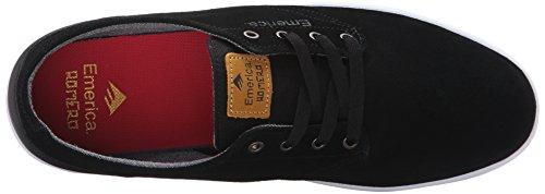 Emerica The Romero Laced Blak Wh, Scarpe da Skateboard Uomo Nero (Black Black White 552 552)