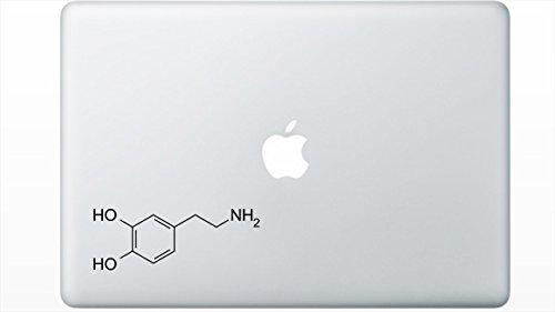 Dopamine Molecule Structure decal sticker by Buttered Kat - Sticker Molecule