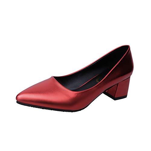 Yukun zapatos de tacón alto Zapatos Femeninos De La Boca Baja Señalados Tacón Alto De Las Mujeres Tacones Altos De Las Señoras En El Grueso con Salvaje Red