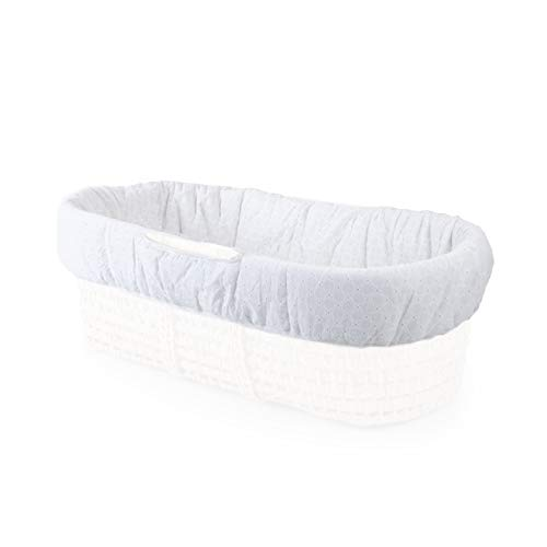 Tadpoles Moses Basket Bedding Only Eyelet One-Size White