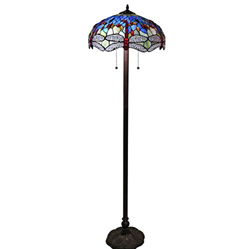 Warehouse of Tiffany 305 Dragonfly Floor Lamp