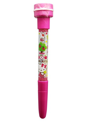 Hello Kitty Pink See-Through Colored Pen With Bottom Stamp (Hello Kitty Blower Bubble)
