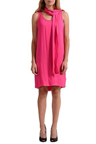 Pink Scarf Silk Decorated IT 38 Bright Women's Dsquared2 100 US Dress XS twEqCnY