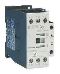 Eaton XTCE018C10 3 pole contactor rated at 18 AMPS with a 220/240 volt AC coil and 1 N.C. base contact by EATON MOELLER (Image #1)