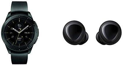 Samsung Galaxy Smartwatch 42mm Midnight Black Bluetooth SM-R810NZKAXAR US Version with Warranty Galaxy Buds, Bluetooth True Wireless Earbuds, Black