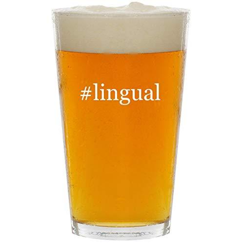 #lingual - Glass Hashtag 16oz Beer Pint