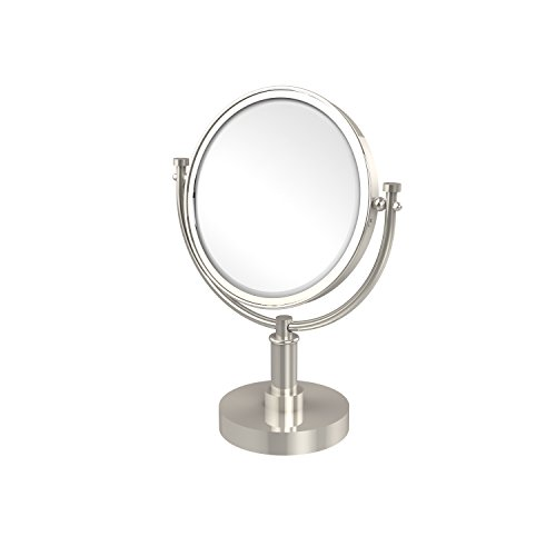 Allied Brass DM-4/5X-PNI 8-Inch Table Mirror with 3x Magnification, 15-Inch, Polished Nickel ()