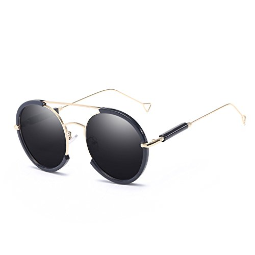 con Hombres de Elegantes Sombra Gafas a los de Moda polarizada Ms Anti lele Ai Personalidad UV Rayos luz Driver Resistente Sol vértigo Espejo AIx8Z0z