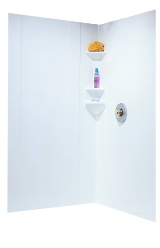 shower+wall Products : Swanstone SW-NEO-DTF-010 High Gloss Three Panel Neo Shower Wall Kit, White Finish