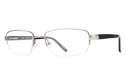 Revolution Mens Eyeglasses - Revolution 582 Men's Eyeglass Frames - Antique Pewter/Grey Clip-On