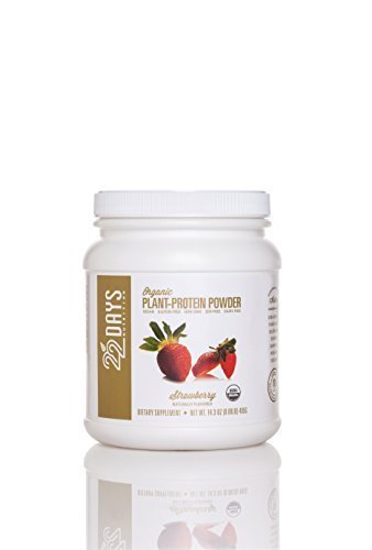 22 Days Nutrition Organic Plant-Protein Powder, Strawberry, 15 Servings by 22 Days Nutrition
