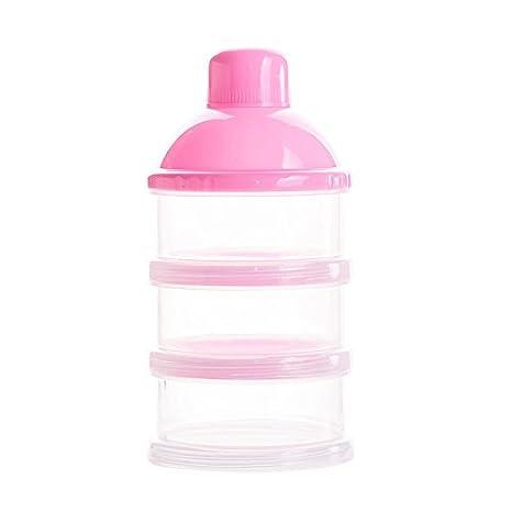 Botella de 3 Capas para Bebé Comida Caja de Leche en Polvo Caja Transparente Portátil para Leche al Aire Libre para Bebés Leche en Polvo Dosificador ...