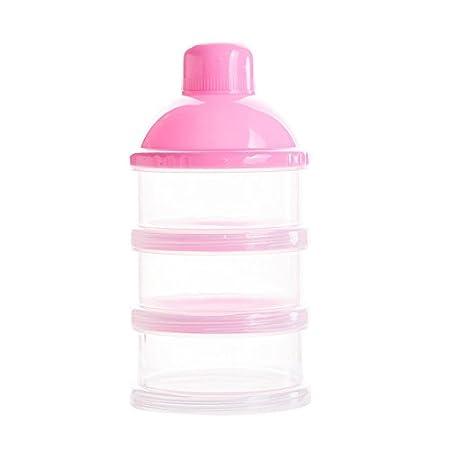 Botella de 3 Capas para Beb/é Comida Caja de Leche en Polvo Caja Transparente Port/átil para Leche al Aire Libre para Beb/és Leche en Polvo Dosificador Apilable