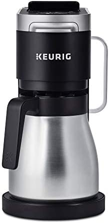 Keurig Okay-Duo Plus Coffee Maker, Single Serve and 12-Cup Carafe Drip Coffee Brewer, Compatible with Okay-Cup Pods and Ground Coffee, Black