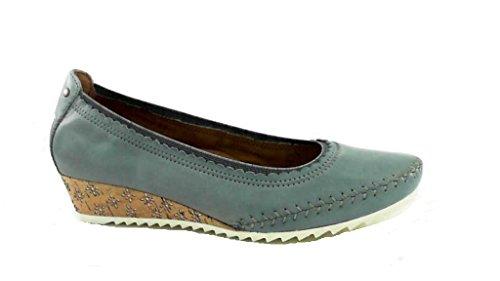 Jana - Zapatos de vestir de Piel para mujer Denim