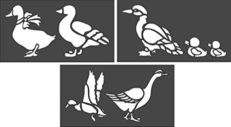 Animal Stencil Card making Airbrush Craft Stencil Duck Stencil