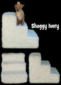 Pet Flys Shaggy Ivory Pet Steps by Pet Flys