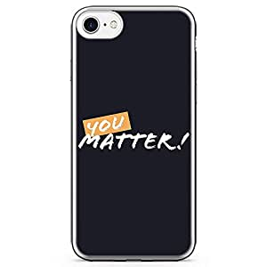 iPhone 8 Transparent Edge Phone case You Matter Phone Case Motivation Phone Case Dark iPhone 8 Cover with Transparent Bumper