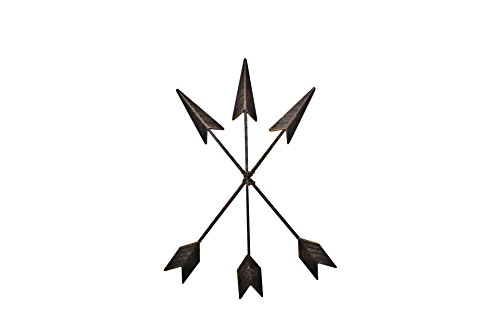 Cast Iron Arrow Wall Decor Native American Distressed Metal Arrows set of 3 | Rustic Barn Wood Decorative sign | Western and Southwestern Arrow Wall Decor | Metal Wall Art (Cast Iron Bronze) (Western Sign Decor)