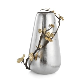 Michael Aram Butterfly Ginkgo Centerpiece (Brass Etched Vase)