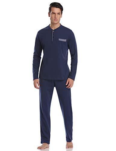 algod 100 hombre Aiboria Set pijama para qH0fX