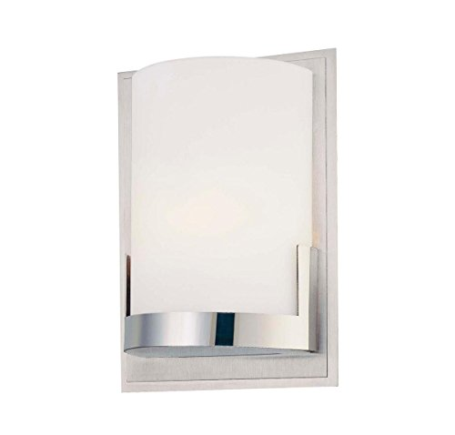 George Kovacs P5951-077, Convex, 1 Light Wall Mount, Brushed Aluminum