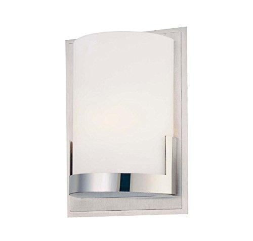 George Kovacs P5951-077, Convex, 1 Light Wall Mount, Brushed Aluminum ()