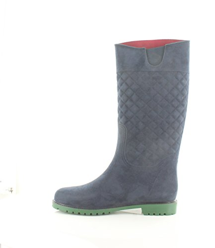 Toe Babette Tommy High Womens Boots Fashion Round Medium Blue Knee Fabric Hilfiger TOSqU